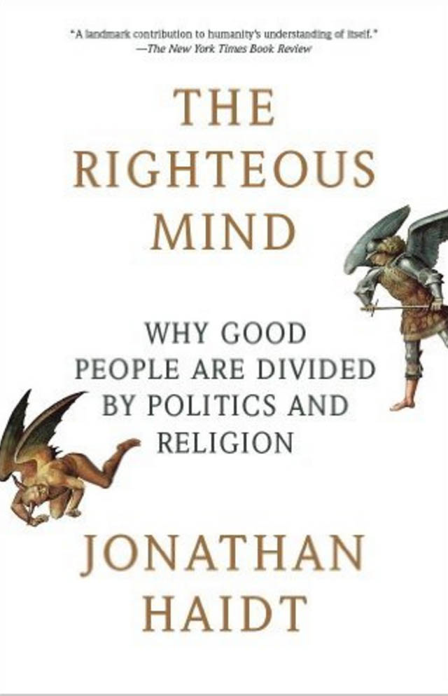 Book cover for the Righteous Mind